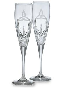 Galway Crystal Trinity Knot Flute (Pair)