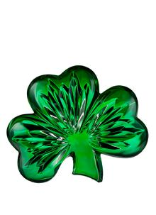 Waterford Crystal Green Shamrock Collectible