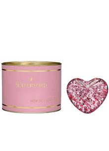 Waterford Crystal Giftology Pink Heart Paperweight