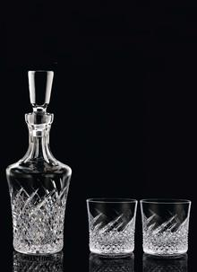 Waterford Crystal Wild Atlantic Way Decanter and 2 Rocks Glasses