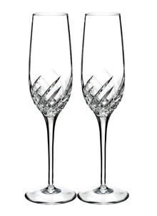 Waterford Crystal Essentially Wave Flute Pair