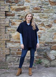 Aoife Wool Cape Navy