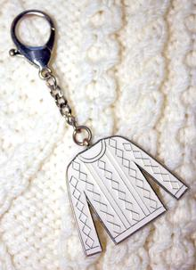 Traditional Aran Sweater Keychain