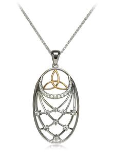 Large Trinity Interlaced Pendant with Cubic Zirconia