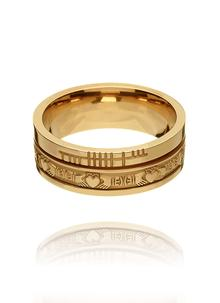 14K Gold Ladies & Gents Claddagh Ogham Band