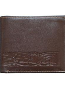 Leather Wallet Celtic Band Brown