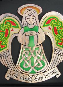 Celtic Threads Bless Our Home Plaque