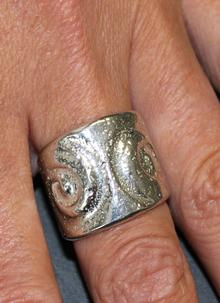 Celtic Double Spiral Ring