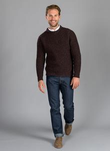 Fisherman Crew Neck Sweater Chunky Rib