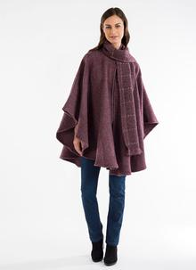 Ciara Wool Cape Plum