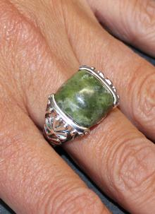 Connemara Marble Pillow Cut Ring