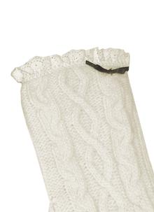 Classic Cable Cream Knit Gloves