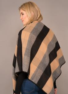 Jimmy Hourihan Blanket Scarf - Black, Camel and Grey