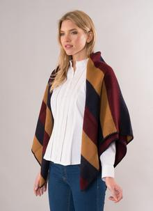 Jimmy Hourihan Blanket Scarf - Camel - Navy - Burgundy