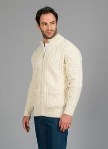 Denis Full Zip Aran Sweater