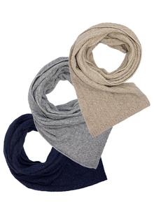 Wool Cashmere Cable Scarf