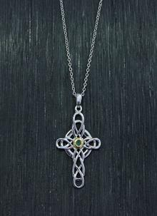Emerald Celtic Design Cross