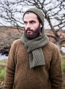 Fisherman Ribbed Beanie & Scarf