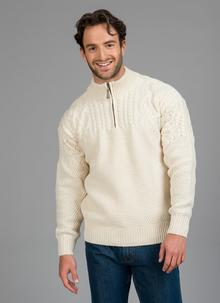 Fionn Half Zip Aran Sweater