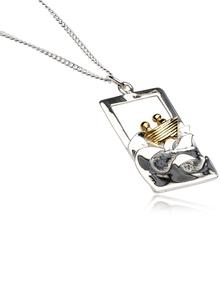 Voyage 3D Pendant in Silver and Gold Plating