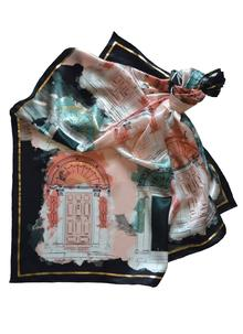 Georgian Door Blush Silk Scarf