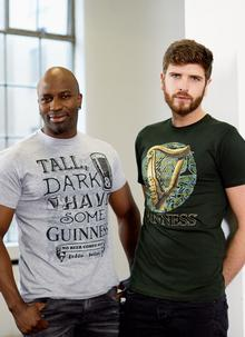Guinness Harp & Celtic Circle Bottle Green T-Shirt