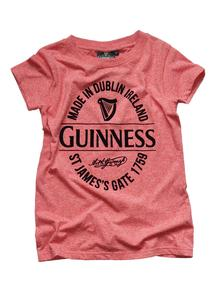 Guinness Stamp Ladies Red T-Shirt