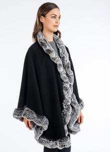 Heirloom Julio Cape With Cashmere Black