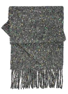 Donegal Black Tweed Scarf With Cashmere