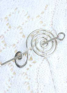 Spiral of Life Shawl & Hair Pin
