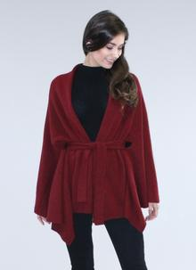 Ribbon Tie Cape-Cardigan