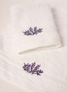 Irish Lavender Face Cloth And Guest Towel