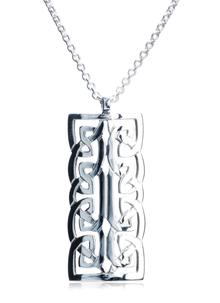Sterling Silver Large Celtic Knot Pendant by Declan Killen