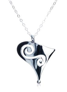 Contemporary Sterling Silver Spiral Pendant