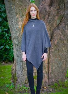 Julie Wool Mix Poncho