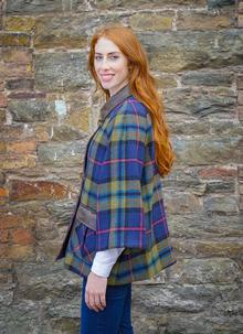 Ladies Tartan Wool Cape