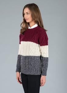 Lily Striped Aran Sweater