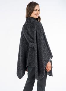 Maggi Wool Cape Grey Black