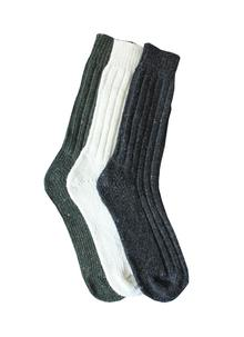 Men's Wool Socks Green Natural Charcoal
