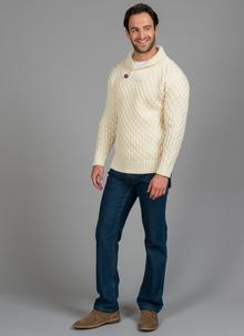 Michael Shawl Neck Aran Sweater