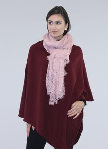 Lace Trim Scarf Dusty Pink