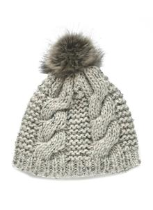 Wool Bobble Hat Oatmeal Speckle