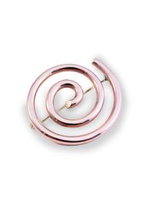 Copper Spiral Brooch Small