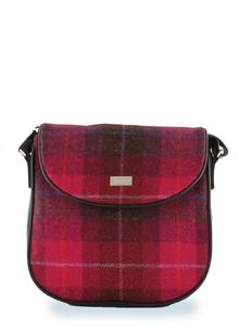 Orla Satchel Bag Fuchsia Pink Tweed