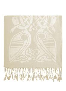 100% Pure New Wool Cream Celtic Scarf