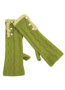 Classic Cable Knit Apple Fingerless Gloves