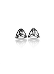 Sterling Silver Celtic Trinity Knot Stud Earrings