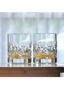 Emerald Crystal Shamrock Double Old Fashioned Glasses