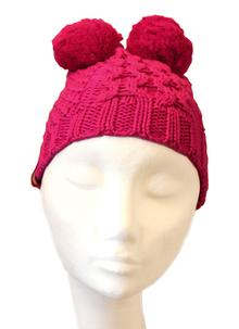 Kids Pink Knitted Bobble Hat