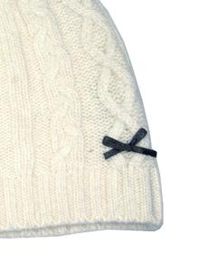 Classic Cable Cream Knit Hat